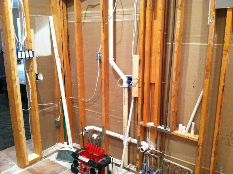 Vanity Light Electrical Rough In : See a Bathroom Project Step by Step? Manning Remodeling and Construction