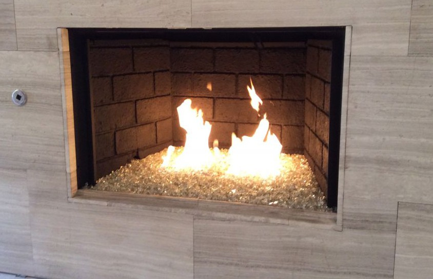 Fireplace crystals a hot trend manning remodeling and - Put out fire in fireplace ...